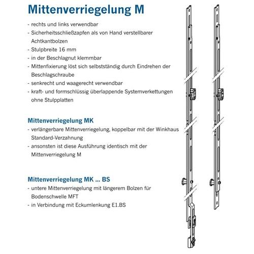 1 Zapfen Winkhaus Mittenverriegelung MK 250-1